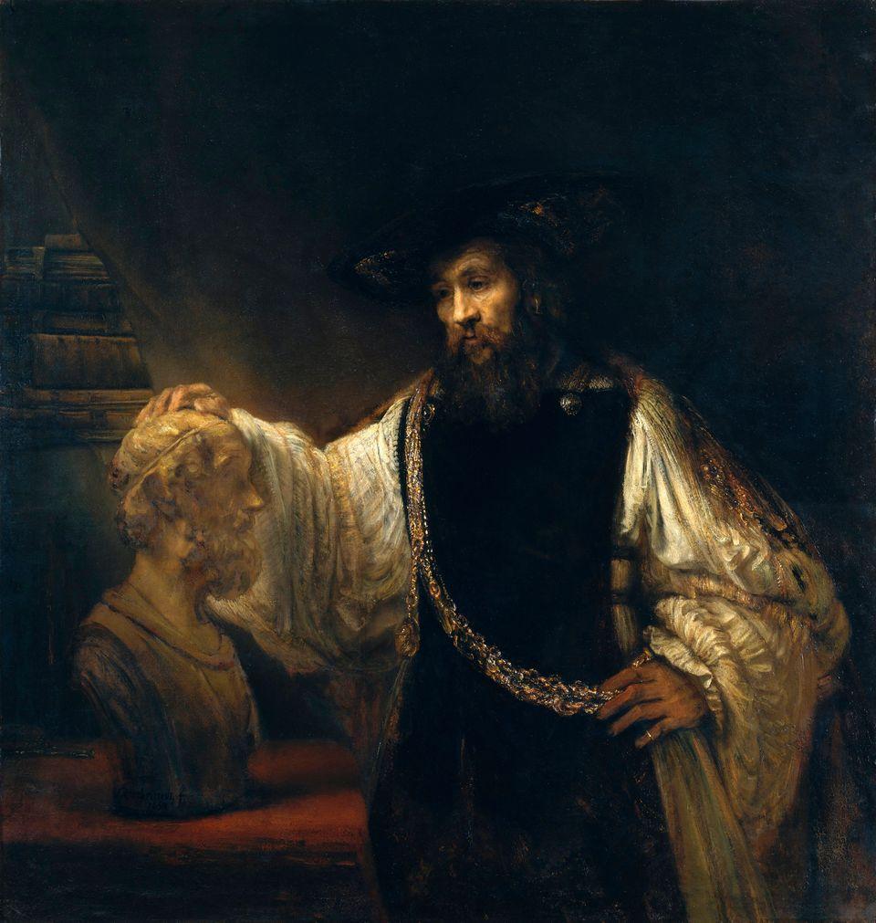 Ο Αριστοτέλης μπροστά στην προτομή του Ομήρου(αγγλ.Aristotle Contemplating a Bust of Homer) είναι πίνακας τουΡέμπραντπου εκτίθεται στοΜητροπολιτικό Μουσείο της Νέας Υόρκης