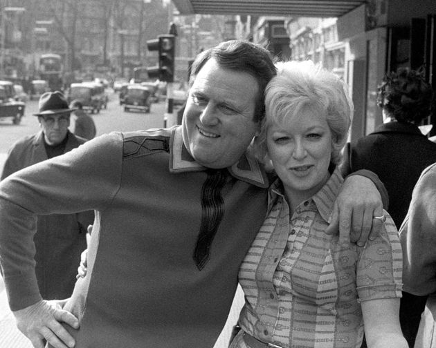 June Whitfield pictured alongside her colleague Terry Scott in