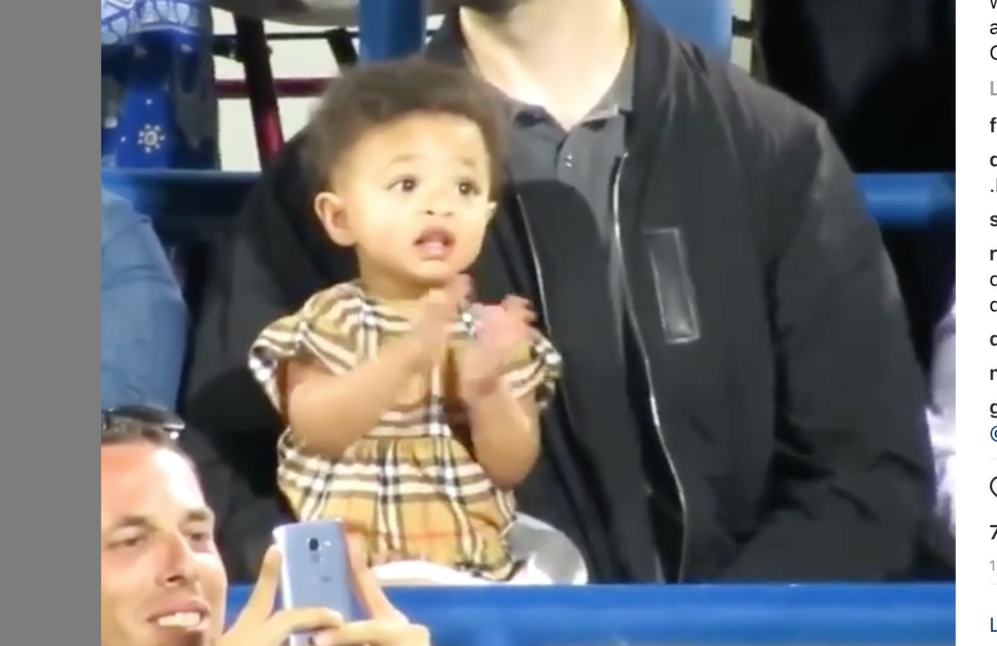 Serena Williams' Daughter Did The Cutest Thing Watching Her Mom Play