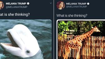 An infamous tweet from First Lady Melania Trump has suddenly changed after being online for more than six years, and the internet is bewildered.