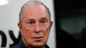 Former New York City Mayor Michael Bloomberg speaks during a news conference after touring the Paulson Electric Company, Tuesday, Dec. 4, 2018, in Cedar Rapids, Iowa. (AP Photo/Charlie Neibergall)
