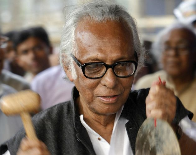 Indian filmmaker Mrinal Sen in Kolkata on 31 January