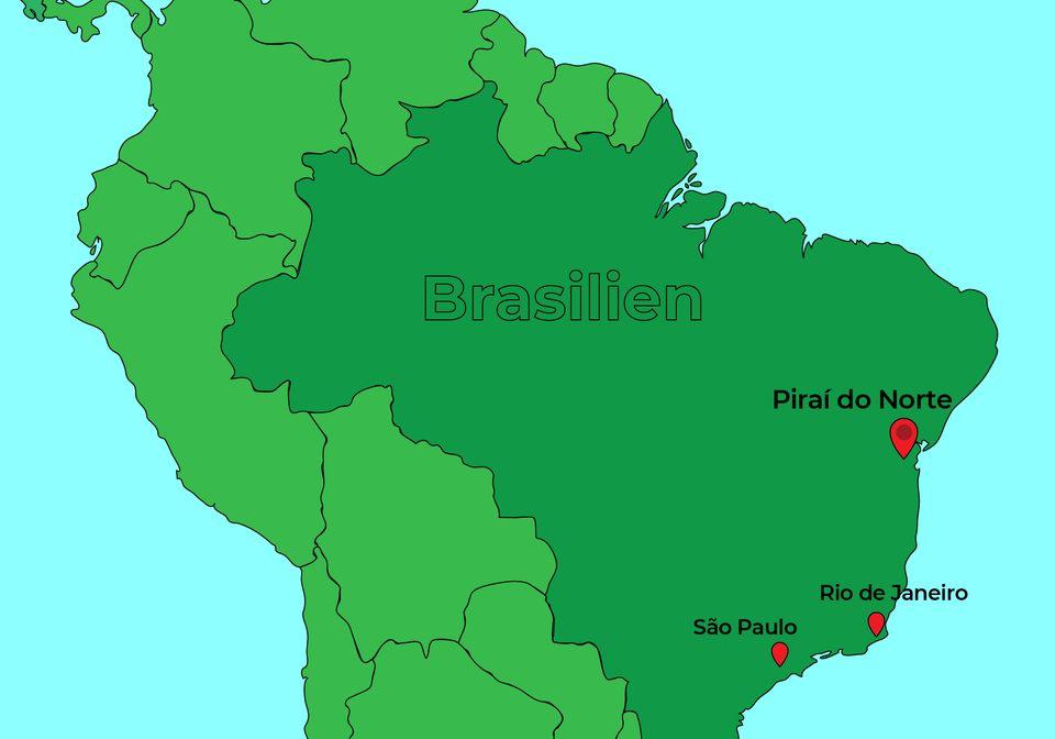 Der Ort Piraí do Norte liegt im brasilianischen Bundestaat Bahia und hat etwa 10.000 Einwohner.