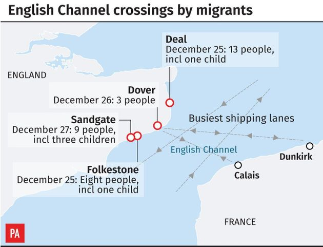 Channel Migrant Crossings: Six Iranian Men Found On Kent