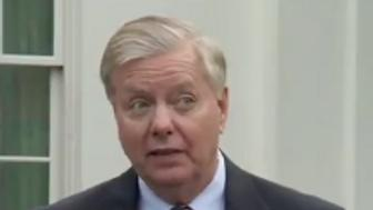 """Lindsey Graham says Donald Trump's border wall is just a """"metaphor"""" for border security."""