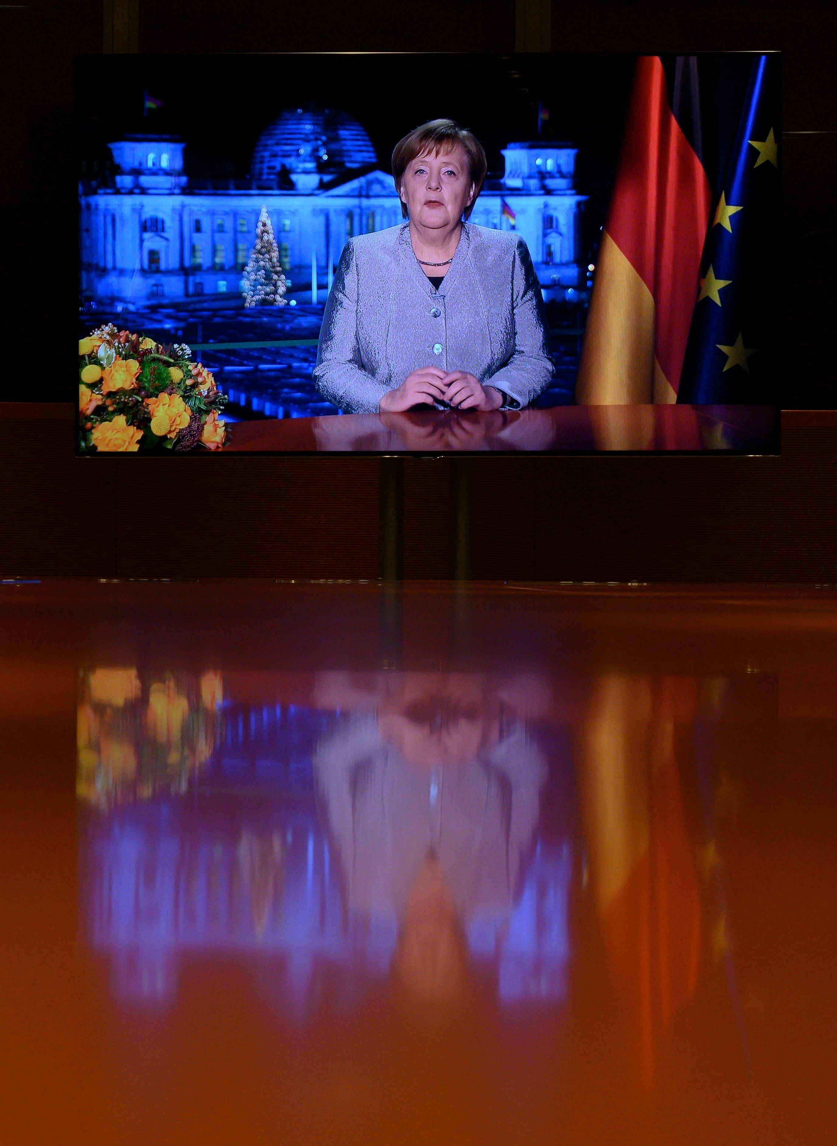 Angela Merkel bei ihrer Neujahrsansprache.