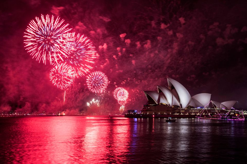The Opera House was illuminated during the