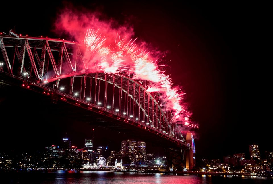 Millions celebrated the New Year by observing a spectacular fireworks
