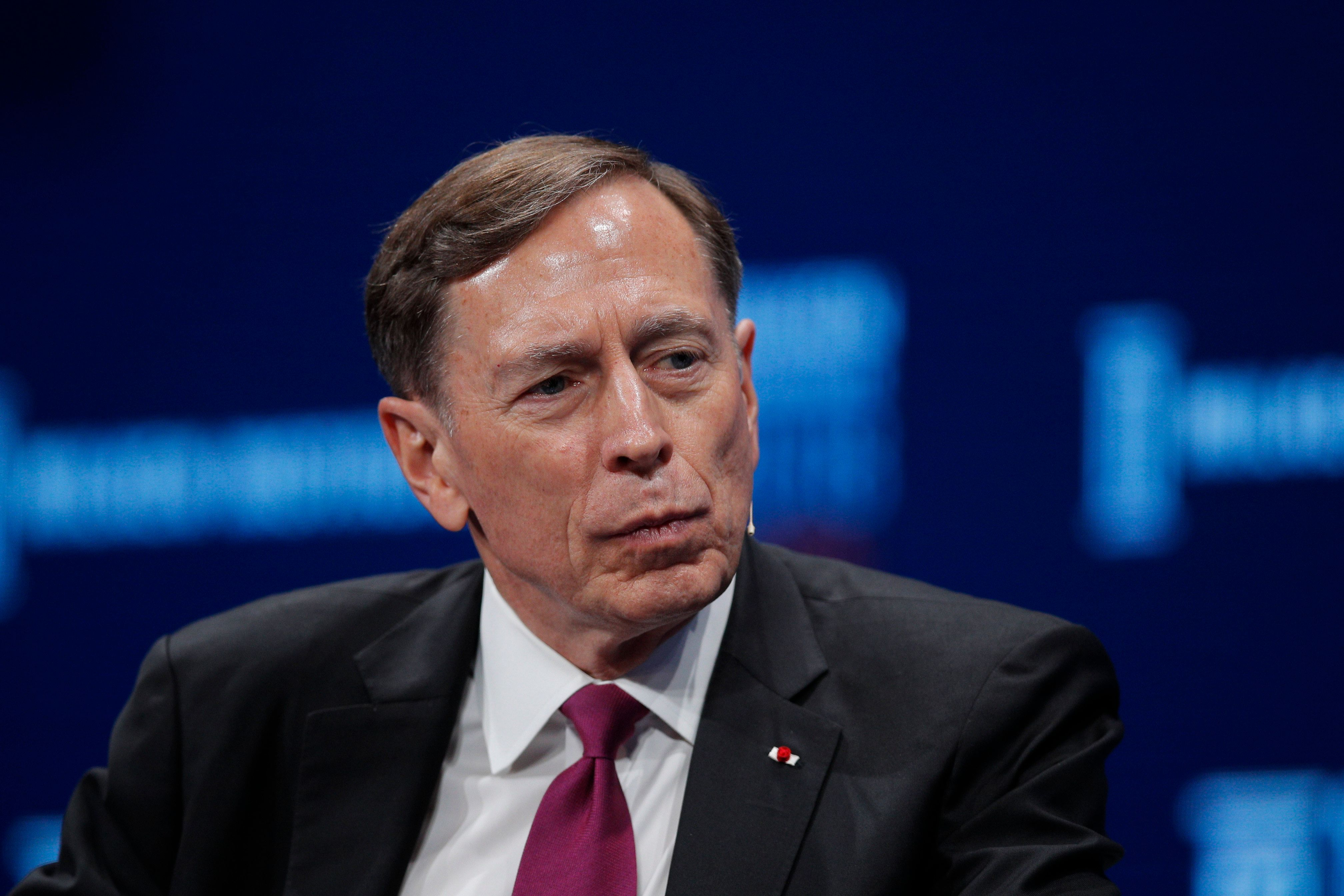 Retired Gen. David Petraeus at the Milken Institute Global Conference in Beverly Hills, California, in April. In an interview