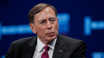 Former CIA director retired Gen. David Petraeus listens during a discussion at the Milken Institute Global Conference Monday, April 30, 2018, in Beverly Hills, Calif. (AP Photo/Jae C. Hong)
