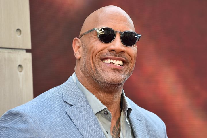 """Dwayne Johnson in New York in on July. On Dec. 30 he showed off the Razzie Award for """"Baywatch"""" on Instagram."""