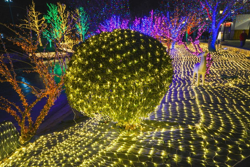 The Solana Lights Festival is held at the Solana Shopping Mall in Beijing,