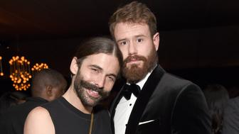 LOS ANGELES, CA - SEPTEMBER 17:  Jonathan Van Ness (L) and Wilco Froneman attend the 2018 Netflix Primetime Emmys After Party at NeueHouse Hollywood on September 17, 2018 in Los Angeles, California.  (Photo by Michael Kovac/Getty Images for Netflix)