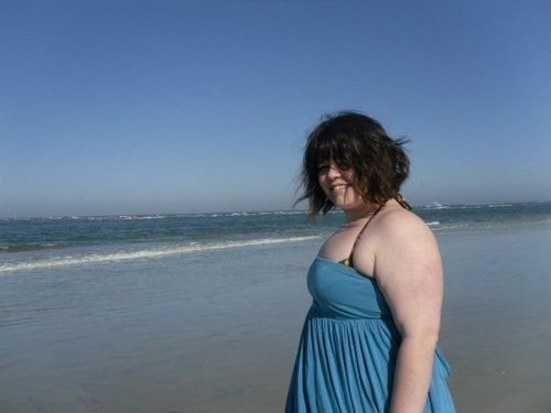 Walking on the beach in Saint Augustine, Florida, in 2008 or 2009. One of the happiest days I can remember, 220-ish pounds no
