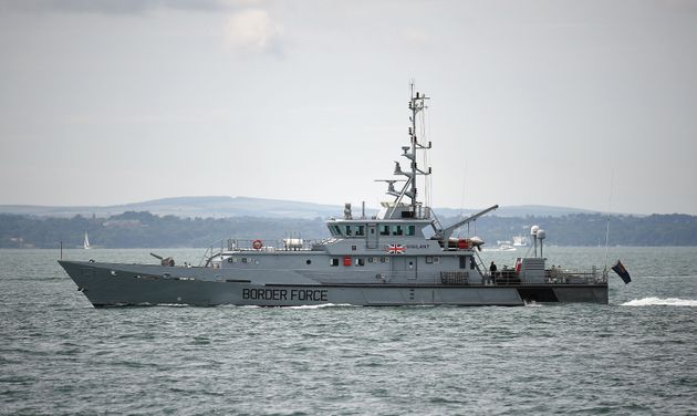 A Border Force cutter, the largest vessel operated by the government