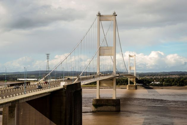 The Severn Bridge was closed briefly on Monday after a man using a drone scaled its structure.