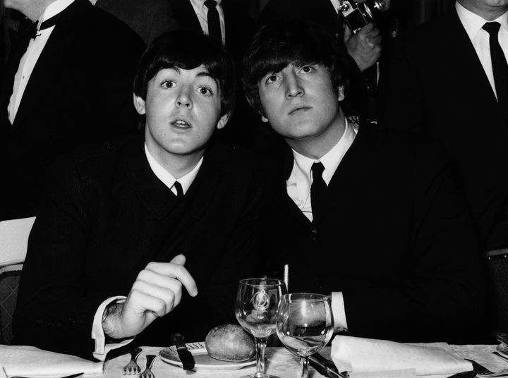 Beatles Paul McCartney (left) and John Lennon in 1964.