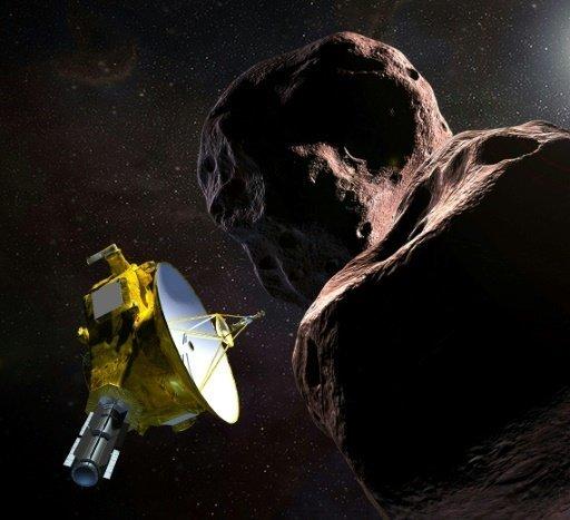 Representación artística transmitida por la NASA el 21 de diciembre de la sonde New Horizons sobrevolando Ultima Thule (NASA/JHUAPL/SwRI/AFP/Archivos | HO)