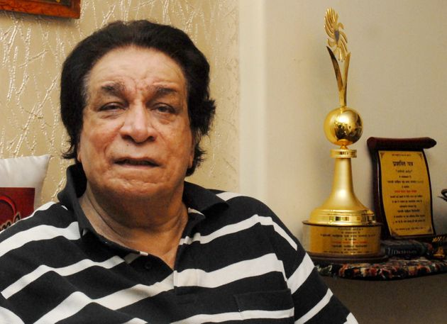 Veteran Bollywood actor Kader Khan at his residence on 18 October 2013 in