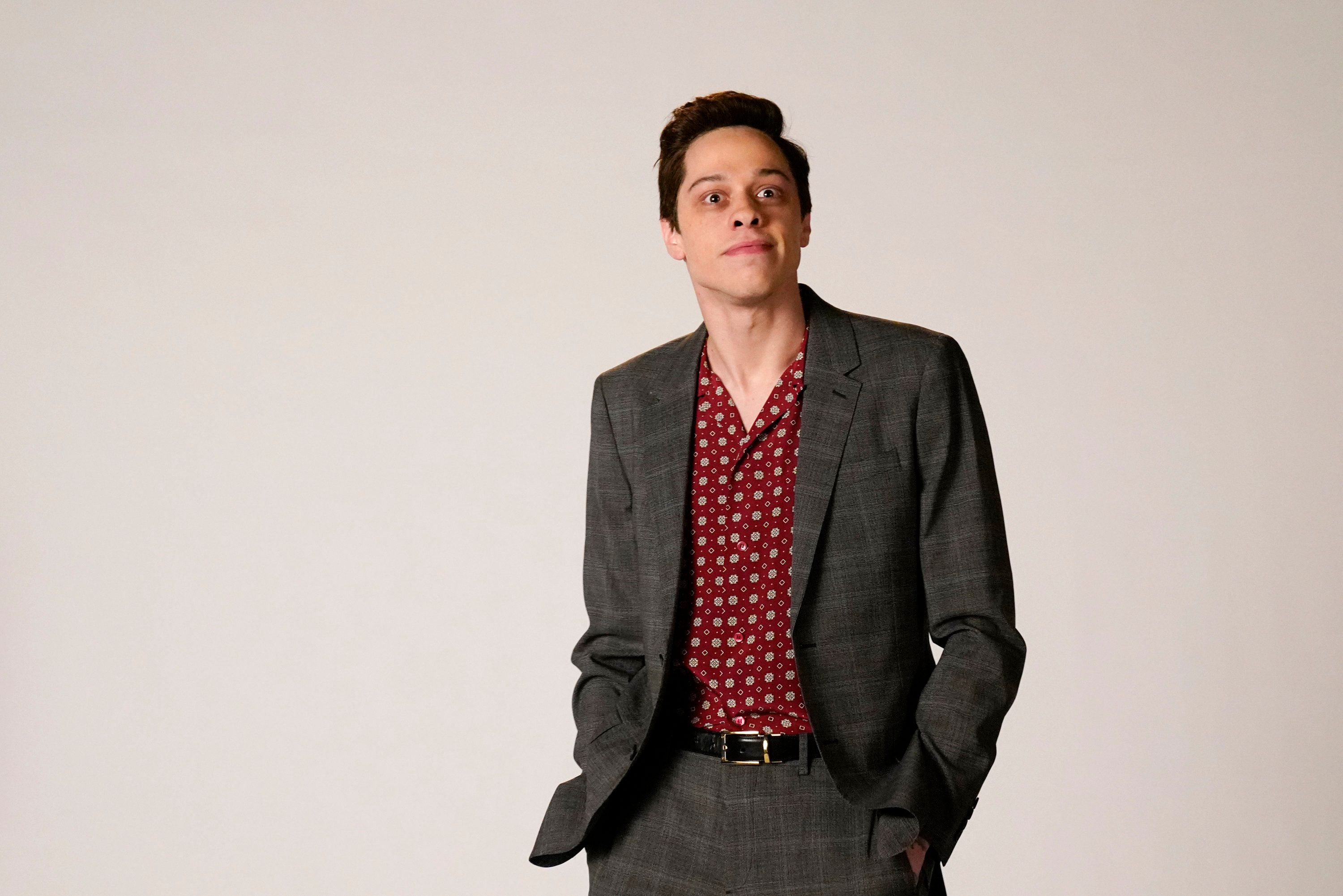 SATURDAY NIGHT LIVE -- 'Matt Damon' Episode 1755 -- Pictured: Pete Davidson as Rami Malek during the 'Oscar Host Auditions' sketch on Saturday, December 15, 2018 -- (Photo by: Ava Williams/NBC/NBCU Photobank)