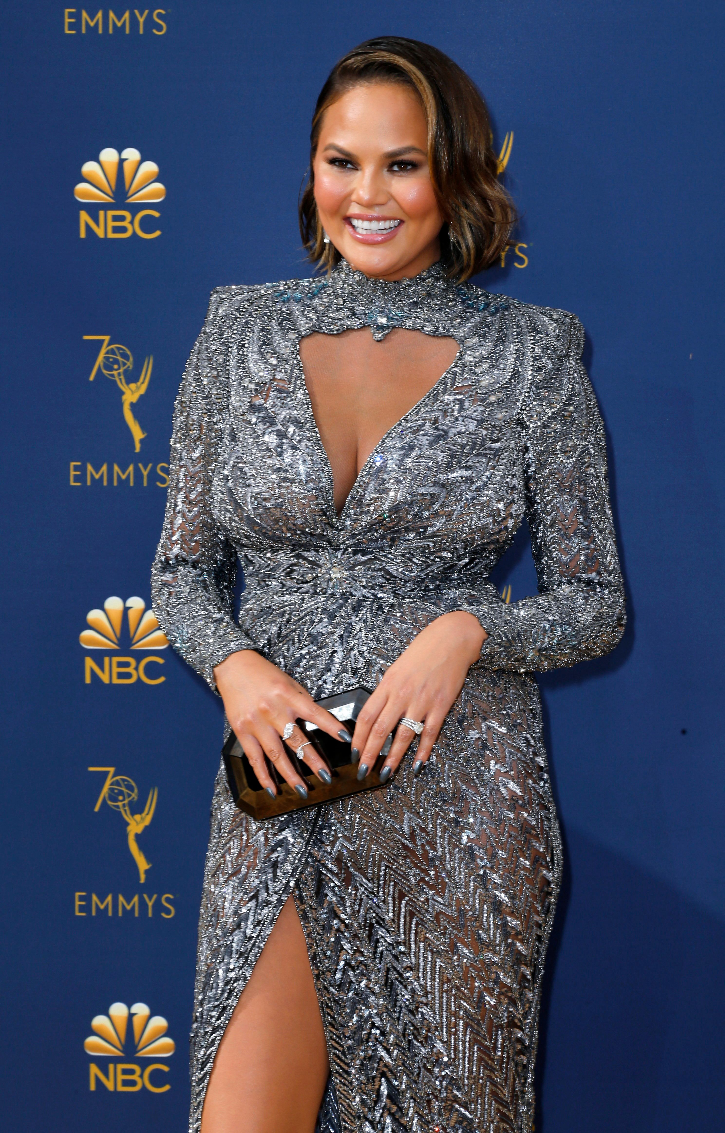 70th Primetime Emmy Awards– Arrivals – Los Angeles, California, U.S., 17/09/2018 – Chrissy Teigen. REUTERS/Kyle Grillot