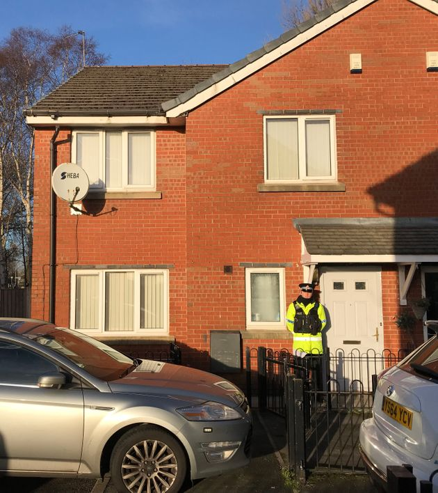 A House in Schoolside Close, Cheetham Hill, Manchester, which was raided as part of the investigation...