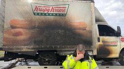 Police Cry Over Burnt Krispy Kreme Truck; Doughnut Humour