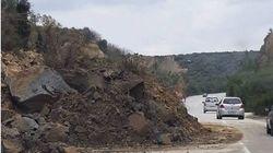 Κρήτη: Βουνό... έπεσε στην εθνική οδό Χανίων - Κισσάμου