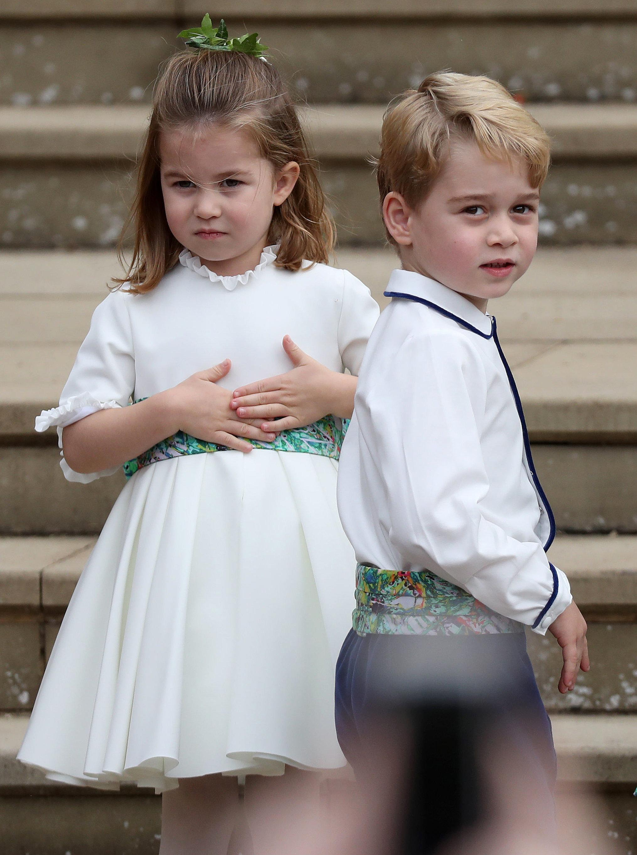 Prinzessin Charlotte und Prinz George mussten etwas länger auf die Geschenke warten.