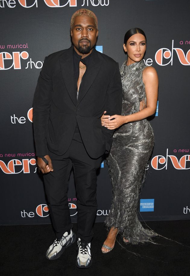Kanye West and Kim Kardashian attend the opening night of