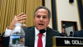 Rep. David Cicilline, D-R.I., questions Attorney General Jeff Sessions during a House Judiciary Committee hearing on Capitol Hill, Tuesday, Nov. 14, 2017, in Washington. (AP Photo/Alex Brandon)