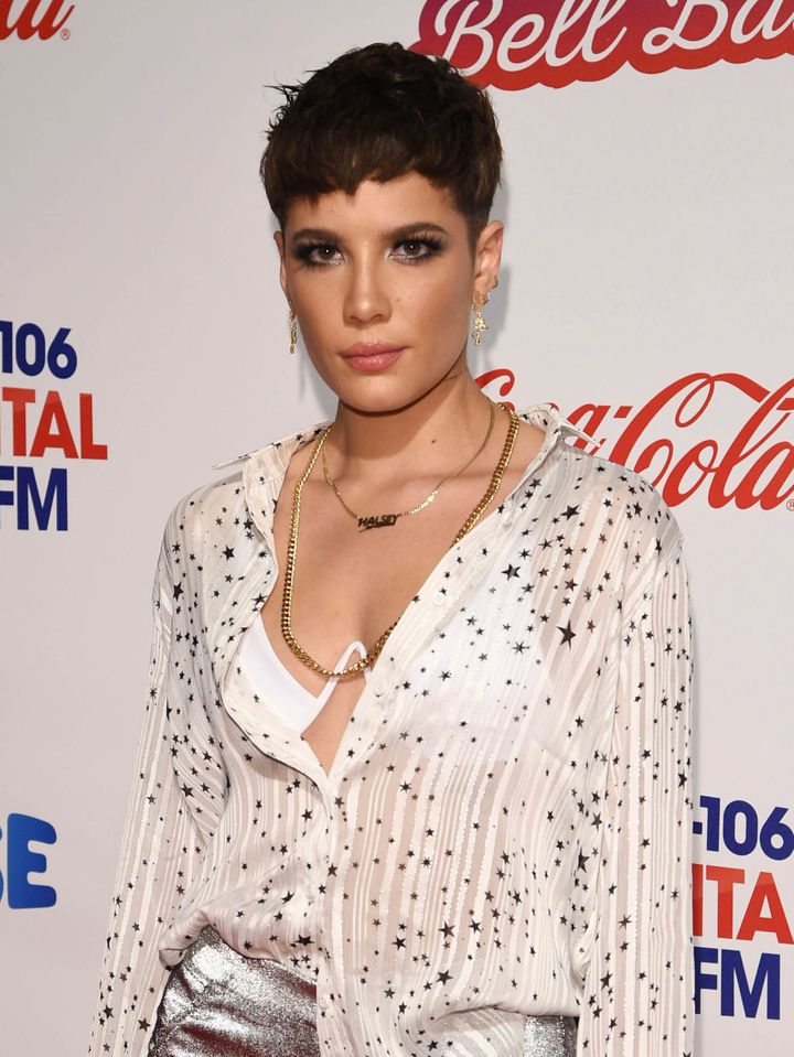 Halsey pictured in London in December 2018.