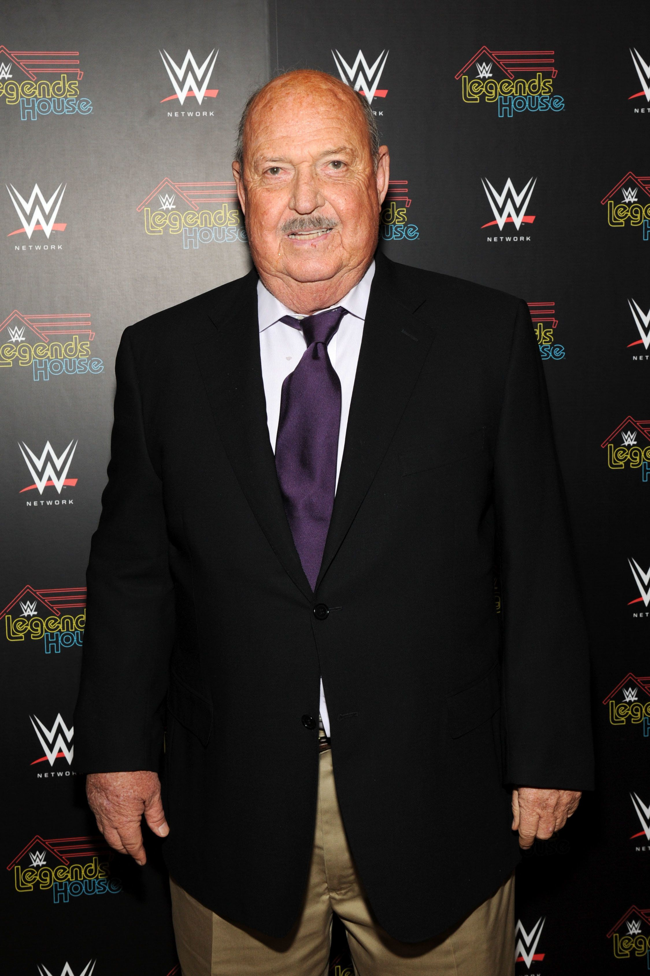 NEW YORK, NY - APRIL 15:  Cast member Gene Okerlund attends the WWE screening of 'Legends' House' at Smith & Wollensky on April 15, 2014 in New York City.  (Photo by Bryan Bedder/Getty Images for WWE)
