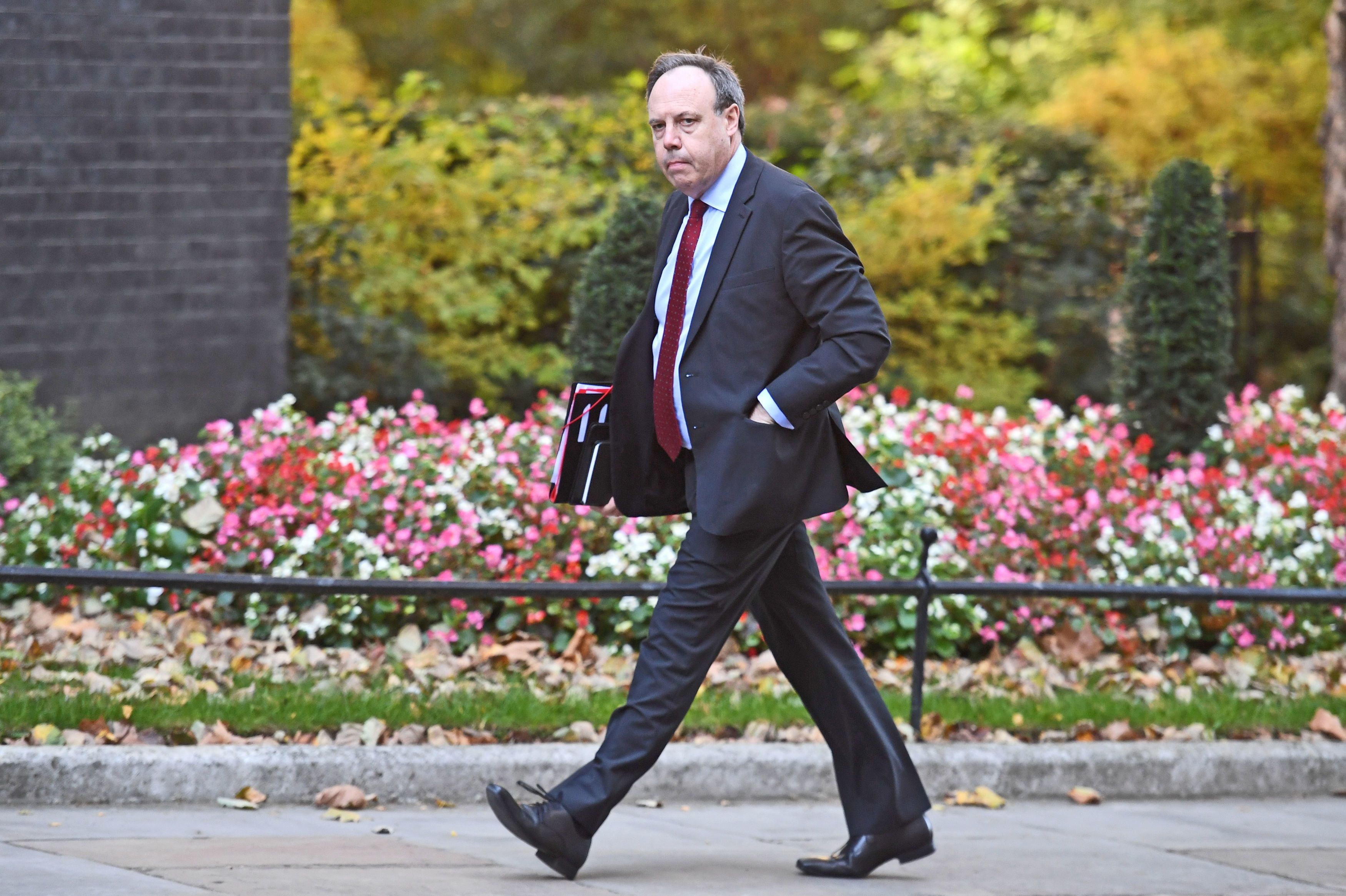 DUP Westminster leader Nigel Dodds held talks with Chief Whip Julian Smith in