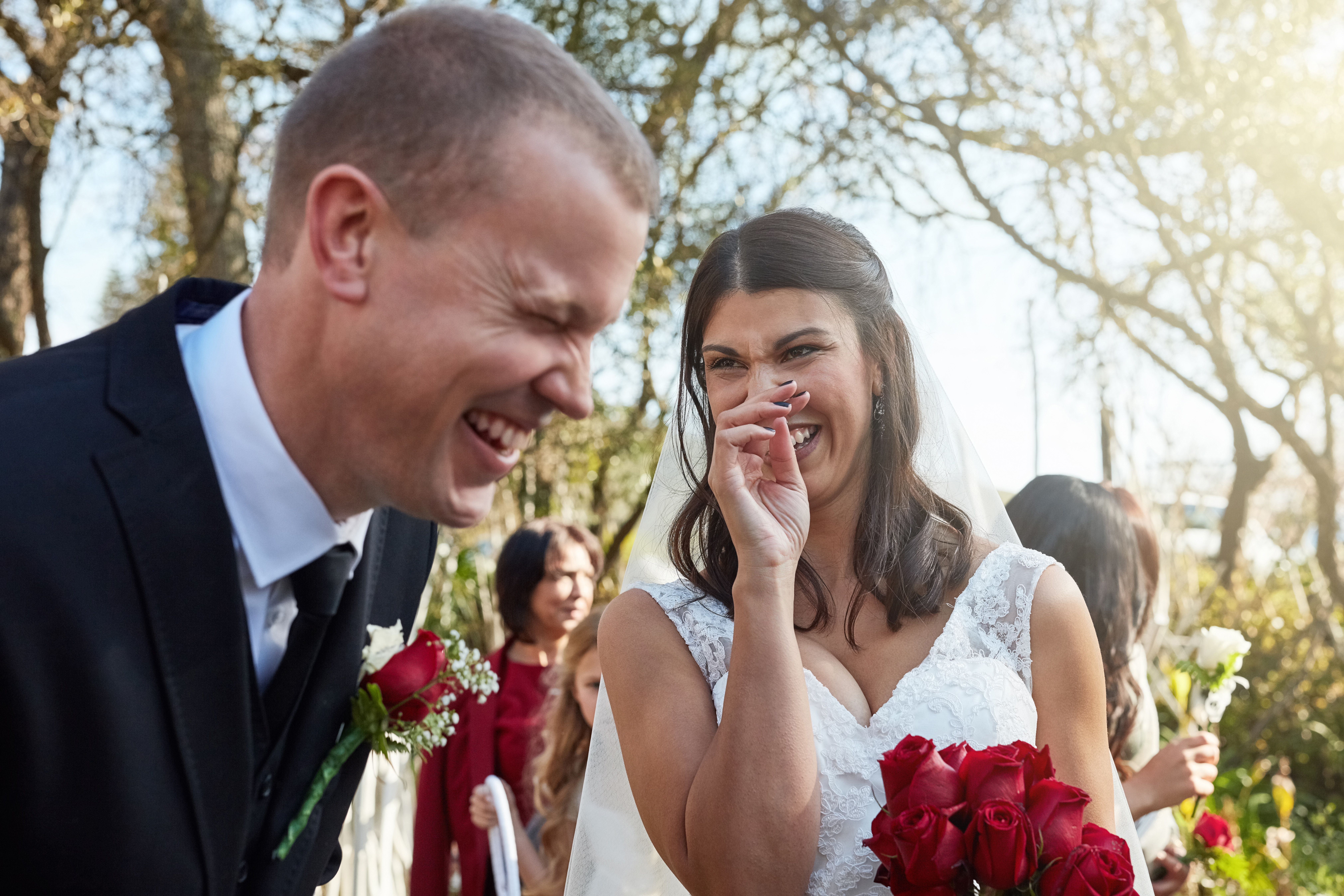 Sometimes the humor in couples' vows at wedding ceremonies is not exactly intentional.
