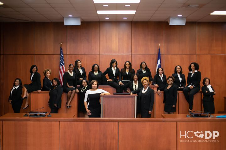 19 African-American women who are now all serving as judges in Harris County, Texas.