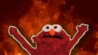 Elmo on fire