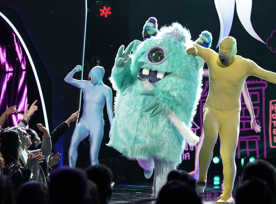 "Monster performs on the premiere of ""The Masked Singer."""