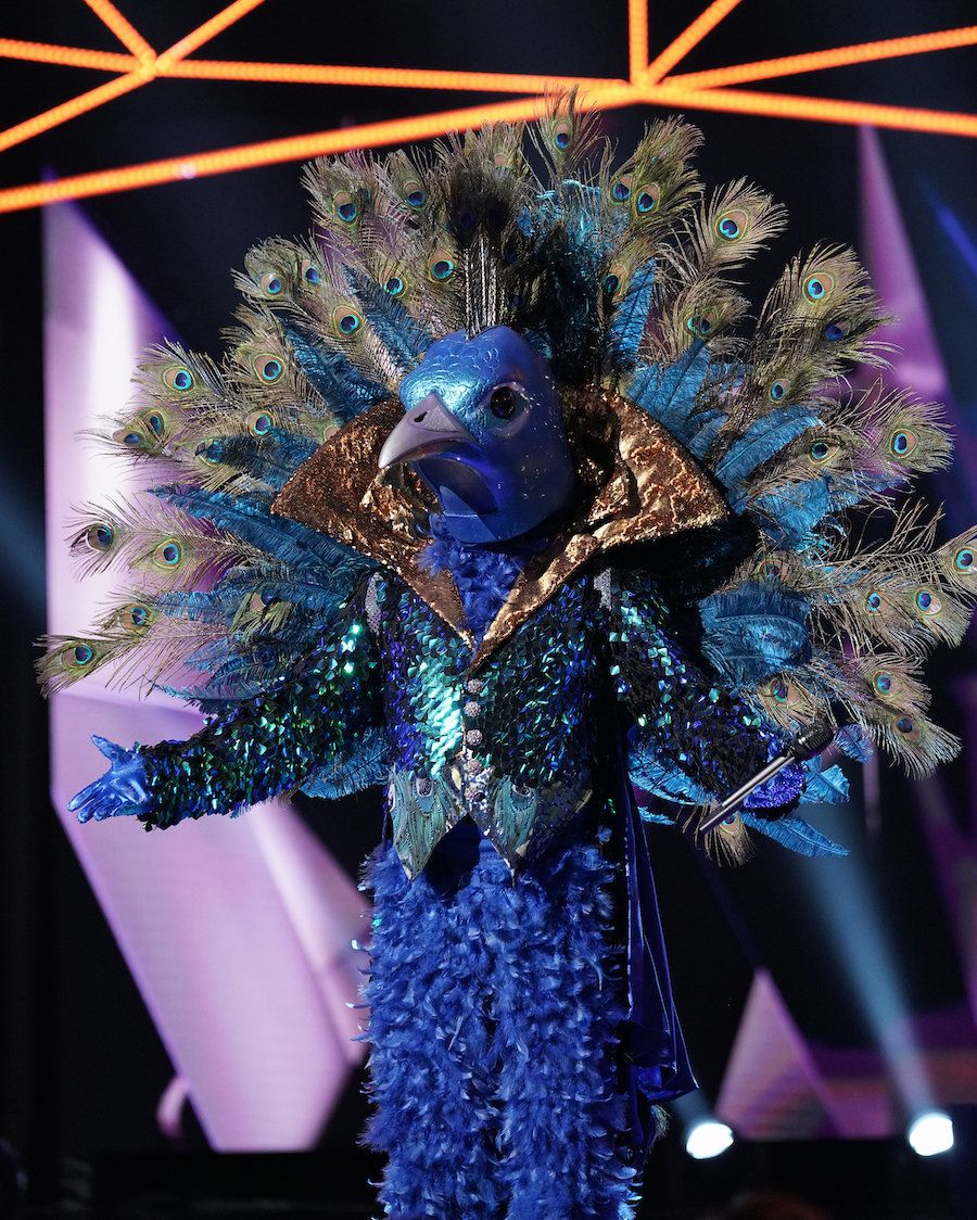 """Peacock performs on """"The Masked Singer."""""""