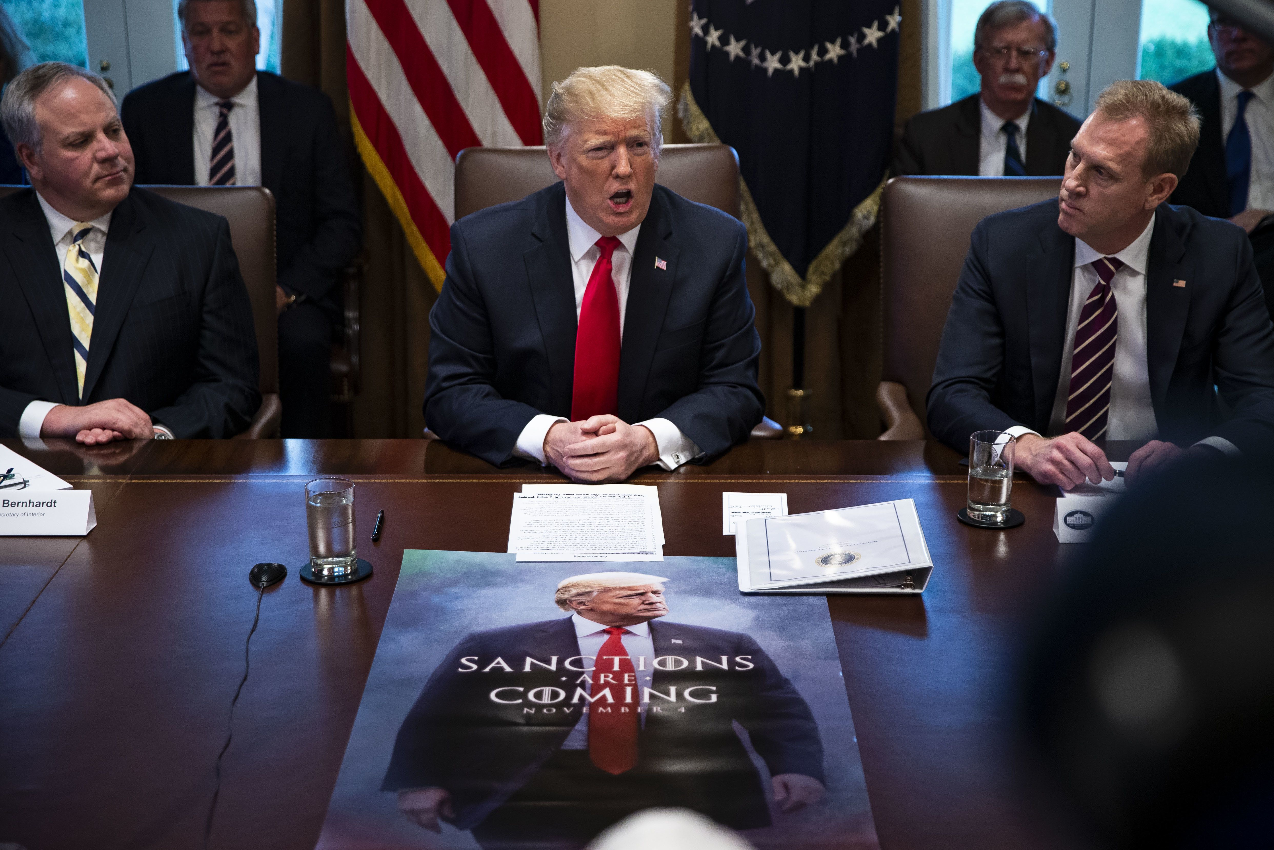 Donald Trump Debuts 'Game Of Thrones'-Themed Poster At Cabinet