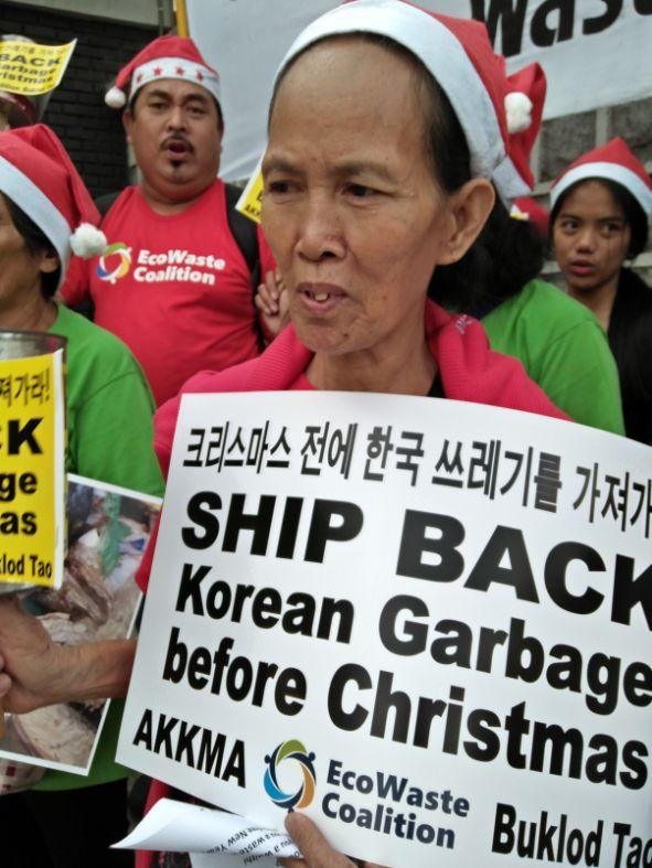 한국 기업이 필리핀에 불법 수출한 쓰레기가 한국으로