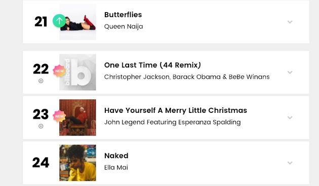 Barack Obama Makes Billboard Hot R&B Songs Chart