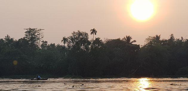 Lever du soleil sur le delta du Mékong;Décembre