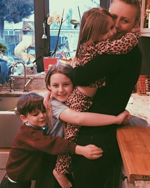 Carla Pedonomou and her three