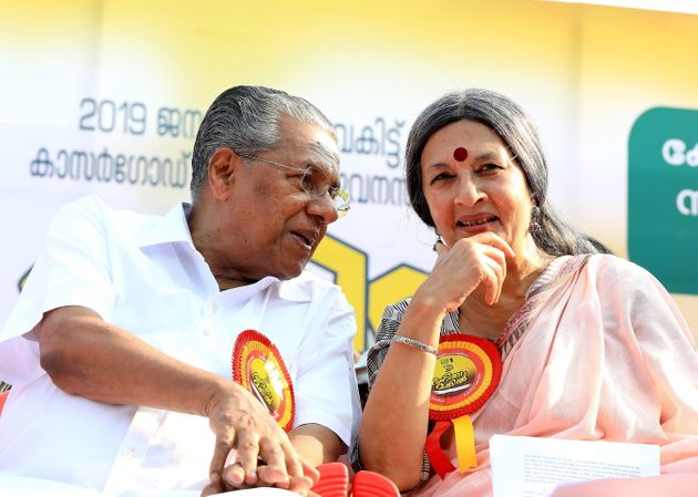 Communist Party of India (Marxist) Politburo member Brinda Karat with Kerala Chief Minister Pinarayi...