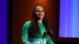 Filmmaker Ava DuVernay addresses the audience during the 2018 Governors Awards at The Ray Dolby Ballroom on Sunday, Nov. 18, 2018, in Los Angeles. (Photo by Chris Pizzello/Invision/AP)