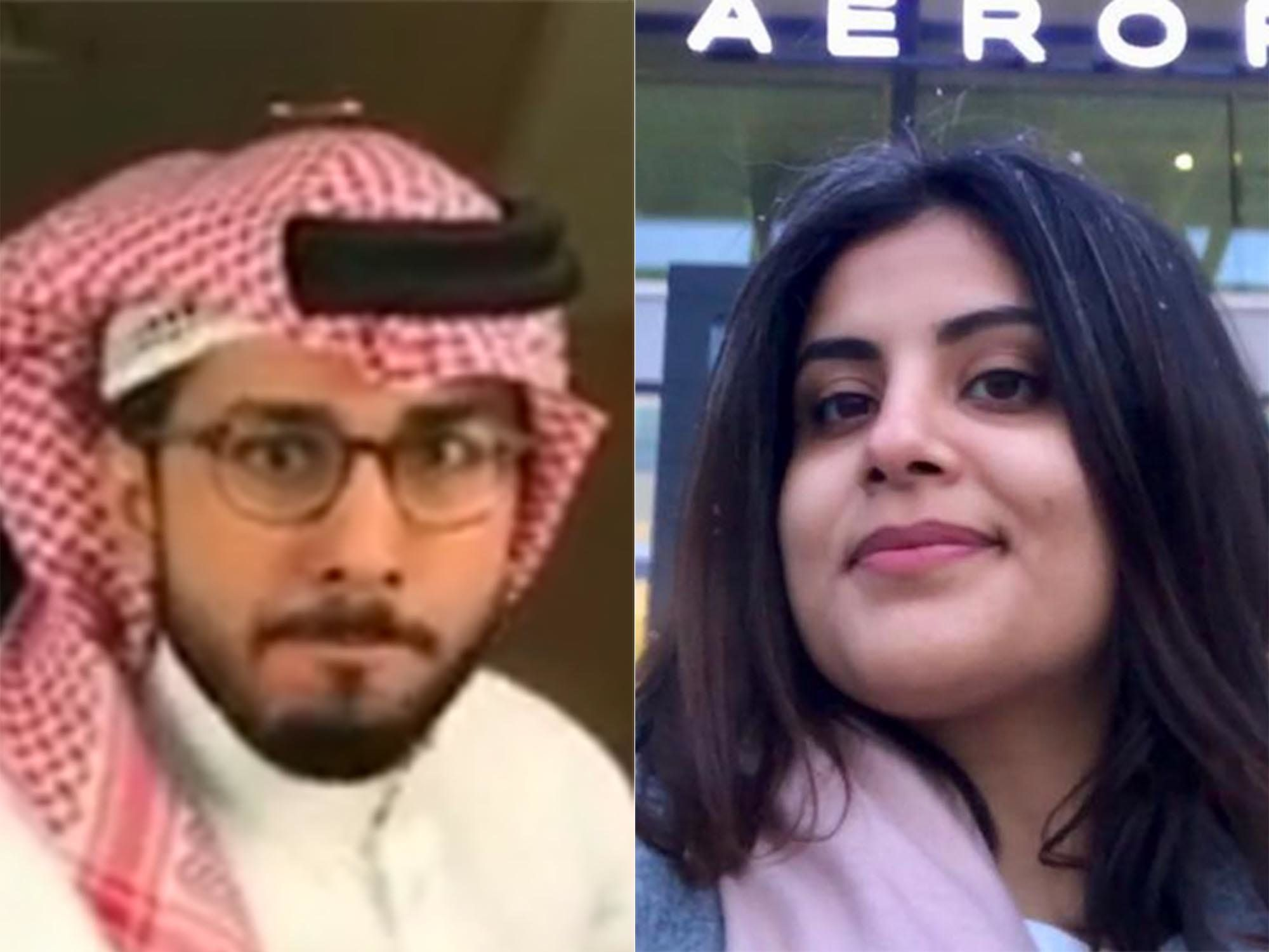 Fahad Albutairi (left) is a popular Saudi comedian. Loujain Hathloul (right) is a prominent women's rights activist in S