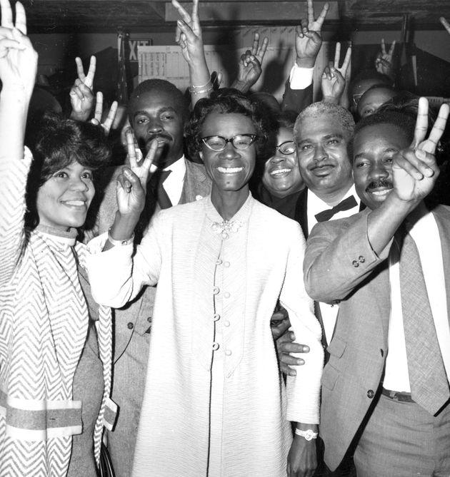 La diputada Shirley Chisholm fue la primera mujer negra elegida para el