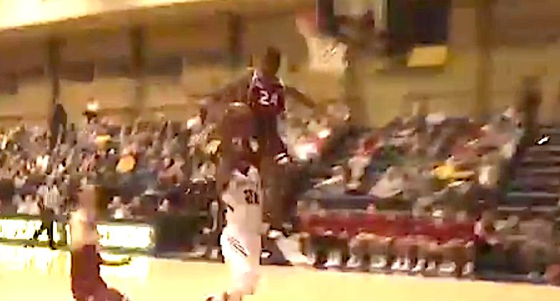 College Basketball Player Collides With The Backboard And It Isn't