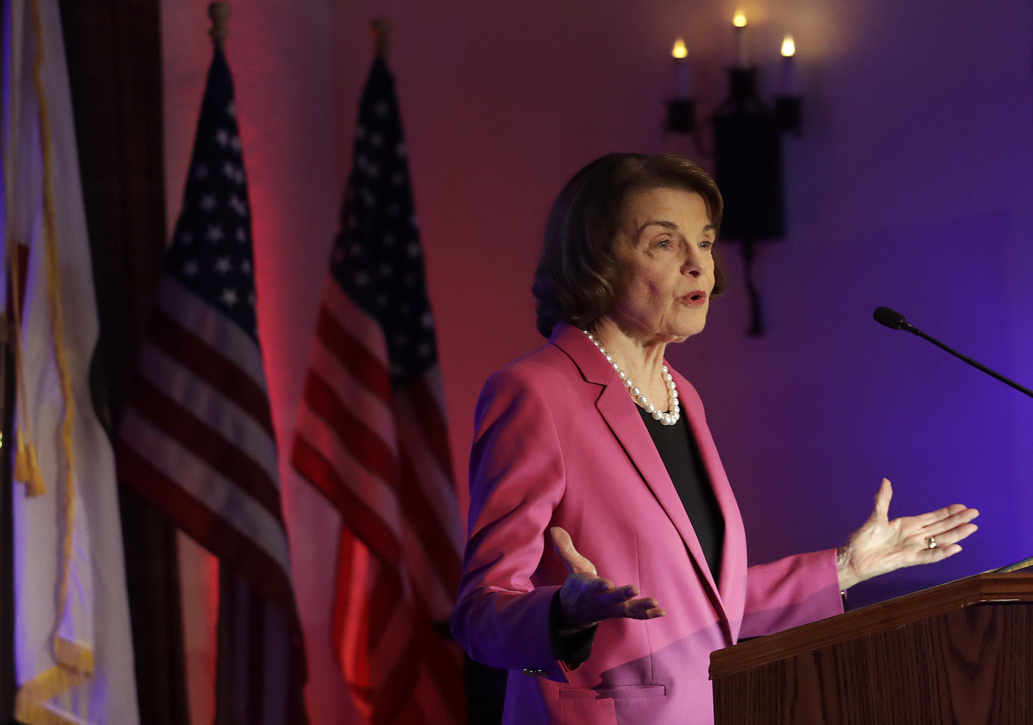 "Sen. Dianne Feinstein praised Joe Biden for his ""experience and seniority."""